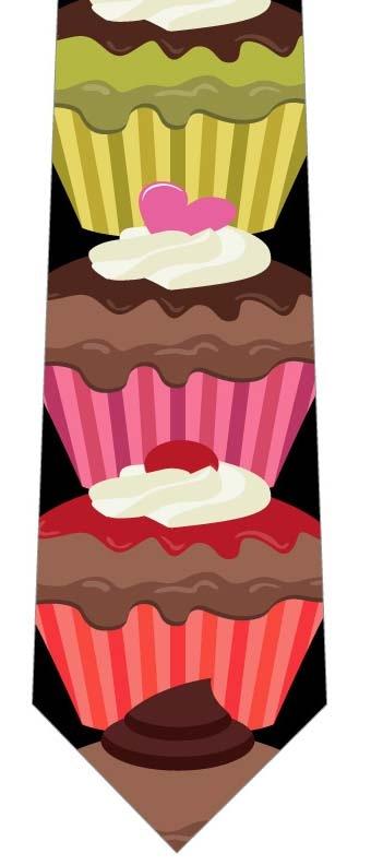 カップケーキ並んだネクタイの写真