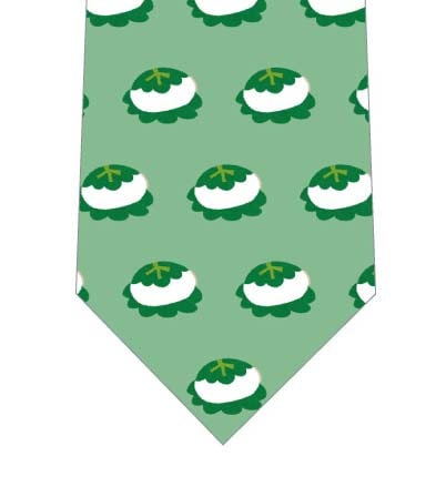柏餅並んだネクタイの写真