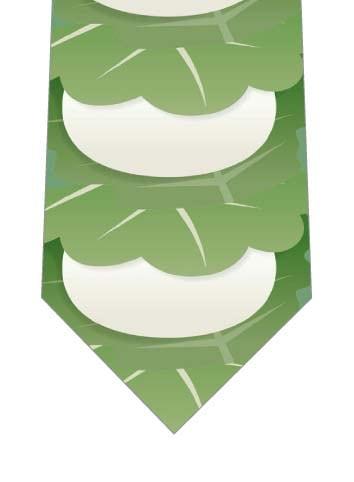 柏餅が縦に並んだネクタイの写真