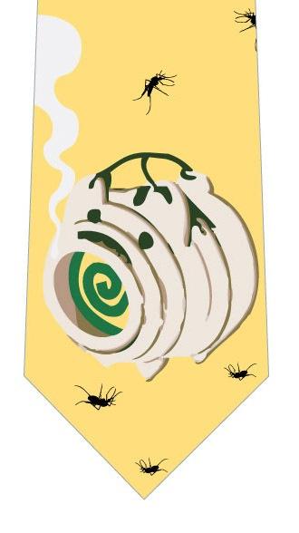蚊取線香と蚊ネクタイ(黄色)の写真