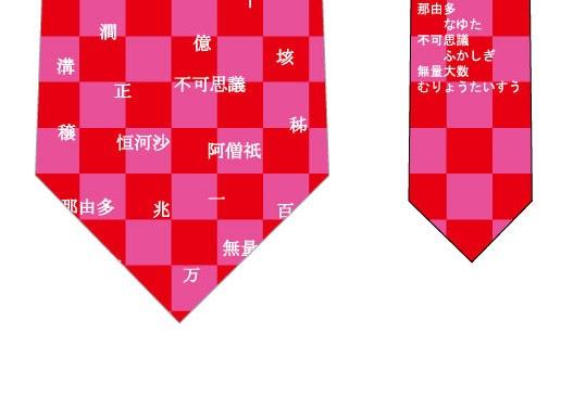 数の単位ネクタイ(赤)の写真
