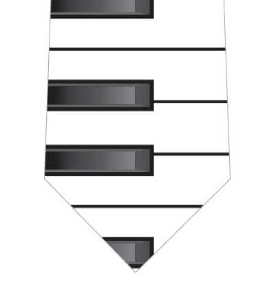 鍵盤ネクタイの写真