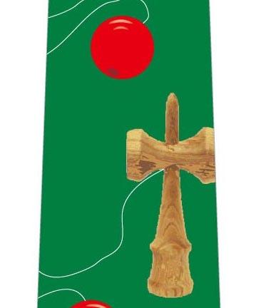 けん玉ネクタイ(濃い緑)の写真
