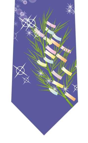キラキラ光る笹の葉ネクタイの写真