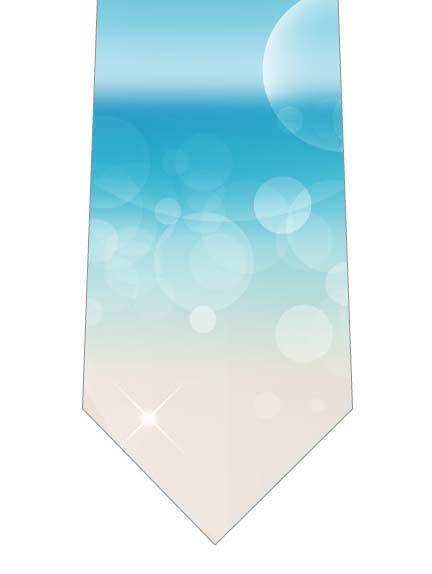 キラキラ光る水面ネクタイの写真
