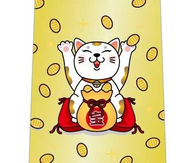 小判ばらまき猫ネクタイの写真
