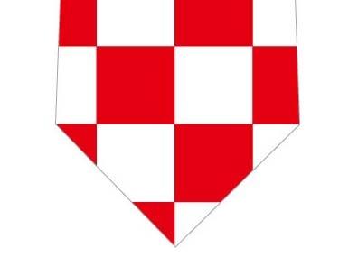 紅白ネクタイ(ブロックチェック大)の写真