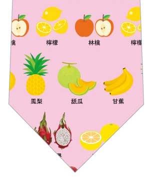 果物の名前ネクタイ(ピンク)