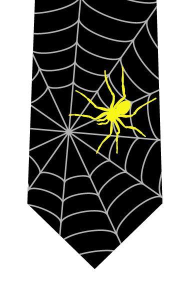 クモの巣ネクタイ(クモあり)の写真
