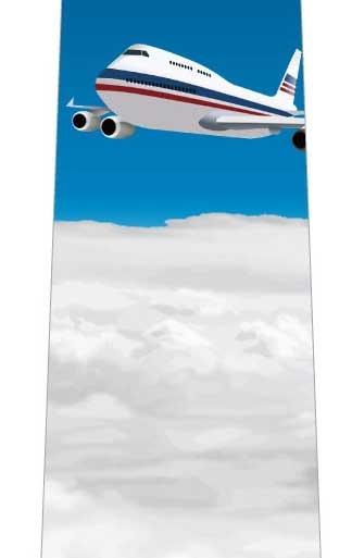 雲の上の飛行機ネクタイの写真