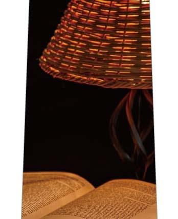 ランプと本ネクタイの写真