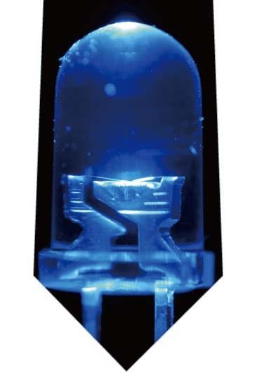 青色LEDネクタイ(大)の写真