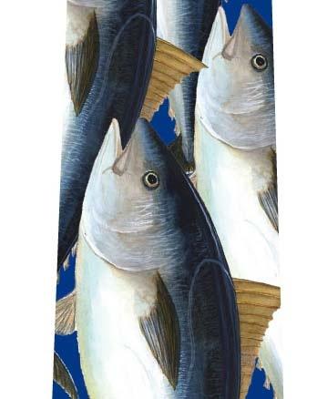 マグロいっぱいネクタイ(青)の写真