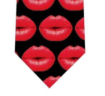 真っ赤な唇ネクタイ(黒)の写真