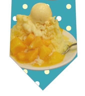 マンゴーかき氷ネクタイの写真