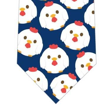 まんまる鶏ネクタイ(紺)の写真
