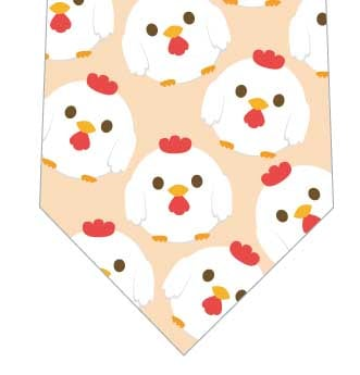 まんまる鶏ネクタイ(クリーム)の写真
