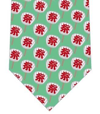 祭団扇ネクタイ(小・緑)の写真