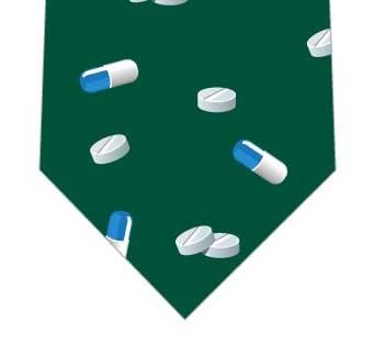 カプセルと錠剤ネクタイ(緑)の写真