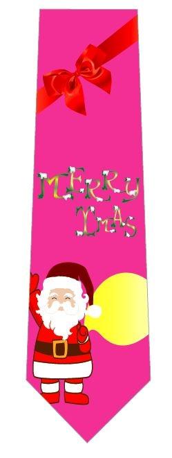 merryxmas(ピンク)ネクタイの写真
