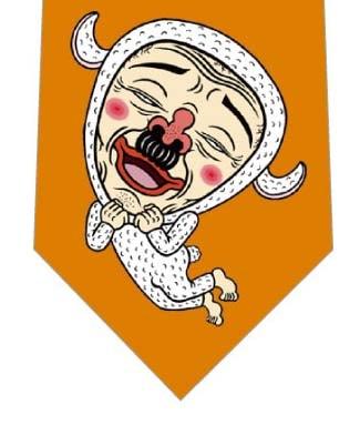 【メソポ田宮文明】こひつじもこすけネクタイ(オレンジ)の写真