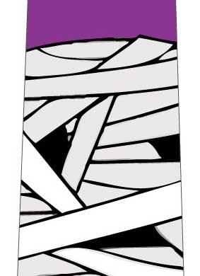 ミイラネクタイ(紫)の写真