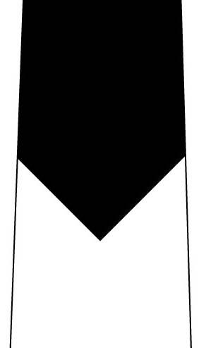 短く見えるネクタイ(黒)の写真