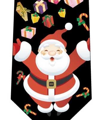 クリスマスネクタイ(みんなへプレゼント)黒の写真