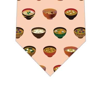 味噌汁ネクタイの写真