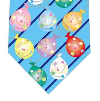 水風船ネクタイ(水色ストライプ)の写真