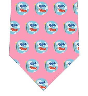 鯉のぼりドットネクタイ(ピンク)の写真