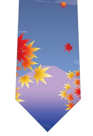 紅葉越しの富士山ネクタイ写真