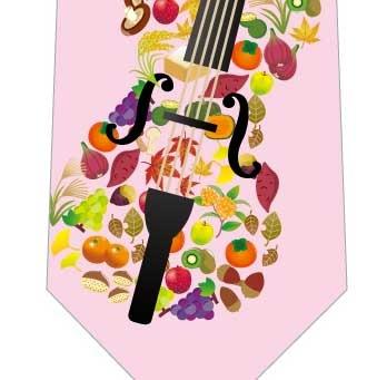 音楽の秋ネクタイ(ピンク)の写真