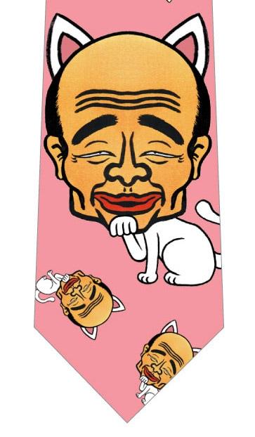 【メソポ田宮文明】宮尾(myao)さんネクタイ(ミックス・ピンク)の写真