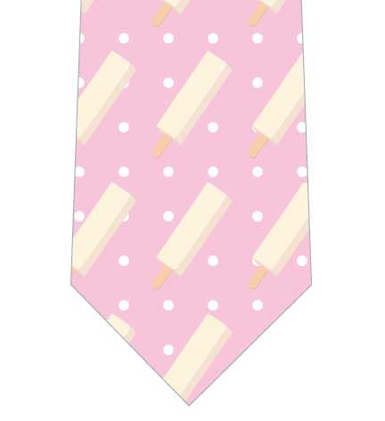 懐かしいアイスネクタイ(ピンク)の写真