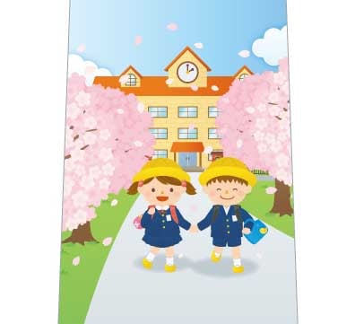 入学式おめでとうネクタイの写真