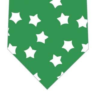 お星様いっぱいネクタイ(緑)の写真