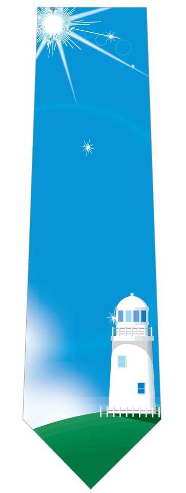 丘の上の灯台ネクタイの写真