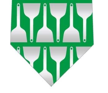 お好み焼きのヘラネクタイ(緑)の写真