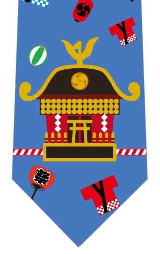 お神輿とお祭りネクタイの写真