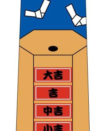 おみくじネクタイ(青)の写真