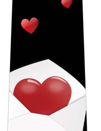 大きなラブレター(黒)ネクタイの写真
