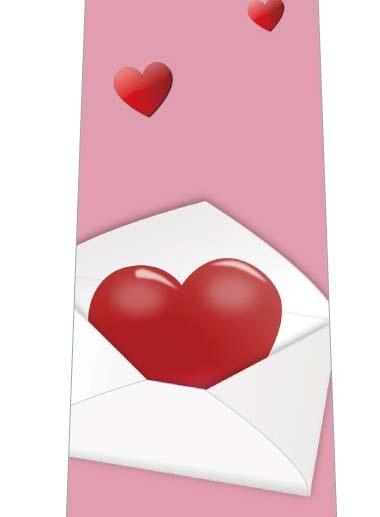 大きなラブレター(ピンク)ネクタイの写真