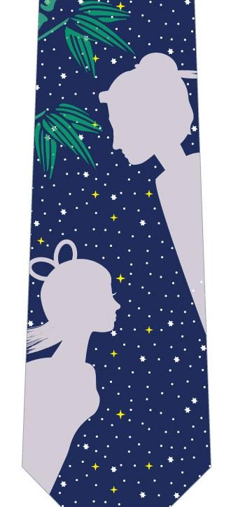 織姫と彦星ネクタイの写真