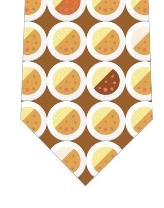 お皿のカレーネクタイ(茶)の写真