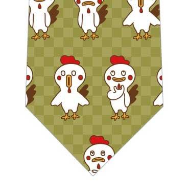 おとぼけ鶏ネクタイ(緑)の写真