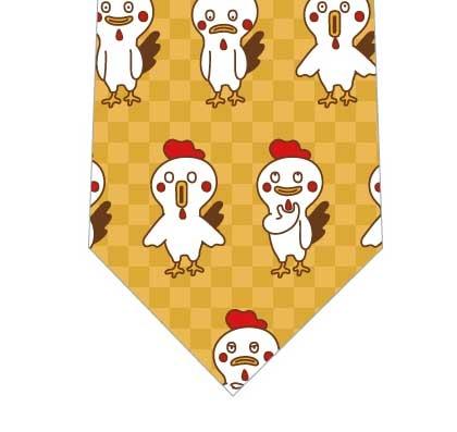 おとぼけ鶏ネクタイ(黄色)の写真