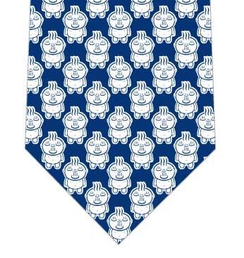 【メソポ田宮文明】お湯わいてるぞう(青キャラ極小・紺)ネクタイの写真