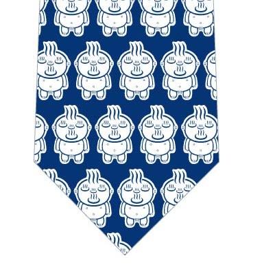 【メソポ田宮文明】お湯わいてるぞう(青キャラ小・紺)ネクタイの写真