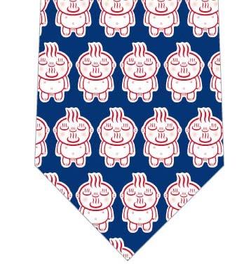 【メソポ田宮文明】お湯わいてるぞう(小・紺)ネクタイの写真